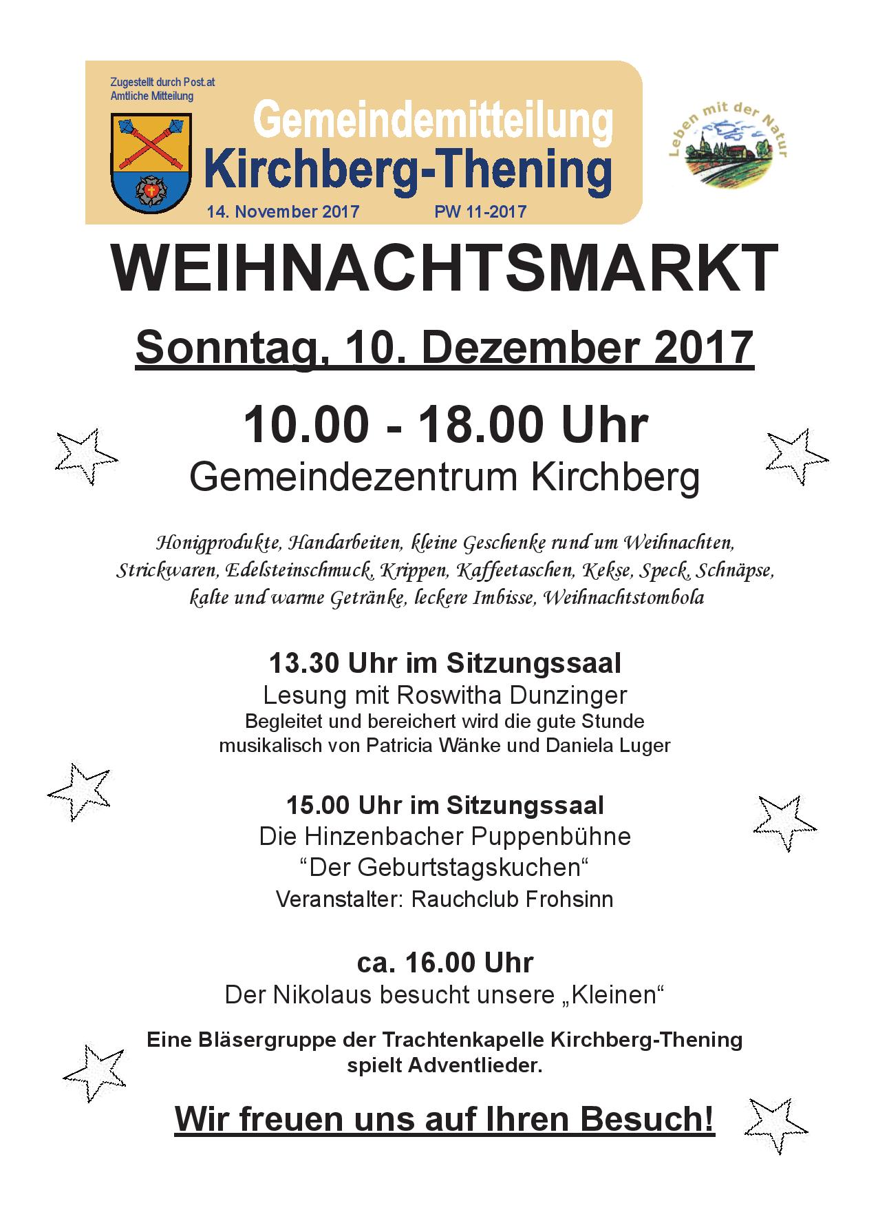 PW 11/2017 - Kirchberg-Thening - Startseite