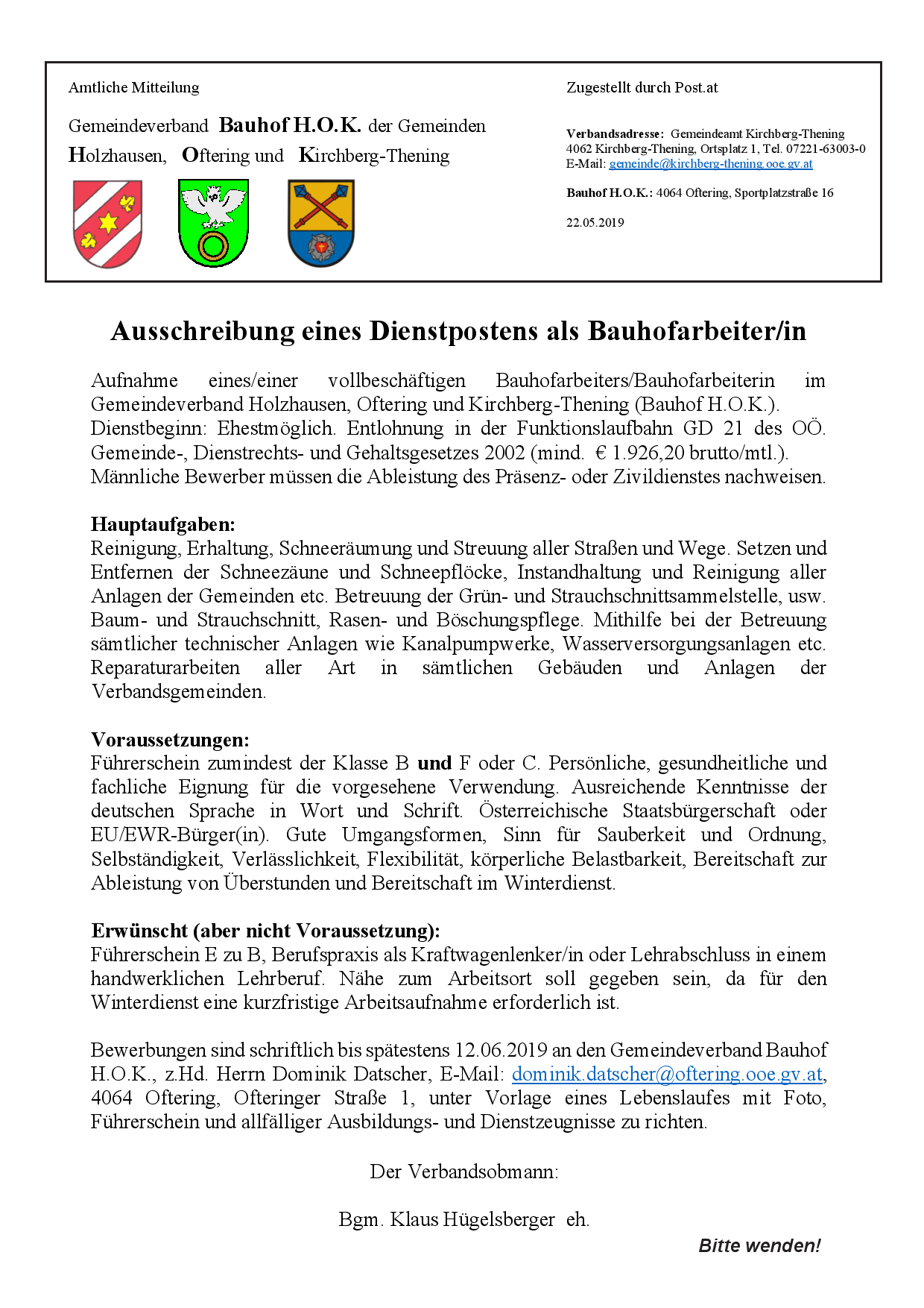 Kirchberg-Thening - Startseite